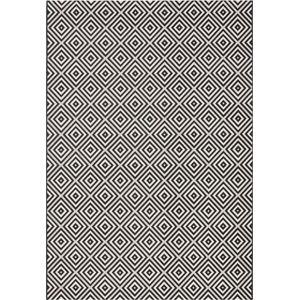 Černo-bílý koberec vhodný do exteriéru Bougari Karo, 140x200cm