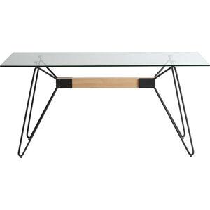 Jídelní stůl s černýma nohama Marckeric Nicole, 160 x 90 cm