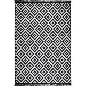 Černo-bílý oboustranný koberec Helen, 140 x 215 cm