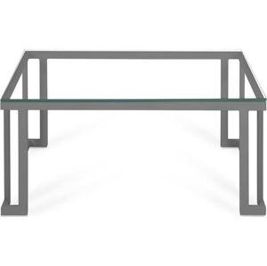 Skleněný venkovní stůl v šedém rámu Calme Jardin Cannes, 60 x 90 cm