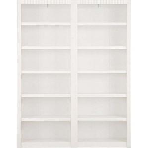 Bílá knihovna z borovicového dřeva Støraa Bailey, 164x213cm