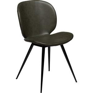 Tmavě zelená jídelní židle z eko kůže DAN–FORM Denmark Cloud