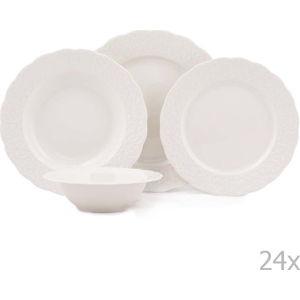 24dílná sada porcelánového nádobí Kutahya Burio