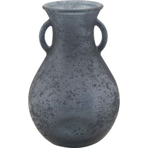 Modrá váza z recyklovaného skla Mauro Ferretti Anfora, ⌀15cm
