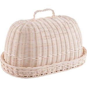 Set chlebníku z ratanu a bavlněné utěrky Orion Oval