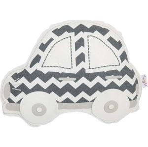 Šedo-bílý dětský polštářek s příměsí bavlny Apolena Pillow Toy Car, 32 x 25 cm