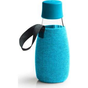 Světlemodrý obal na skleněnou lahev ReTap s doživotní zárukou, 300ml