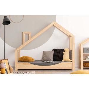 Domečková postel z borovicového dřeva Adeko Luna Elma,100x160cm
