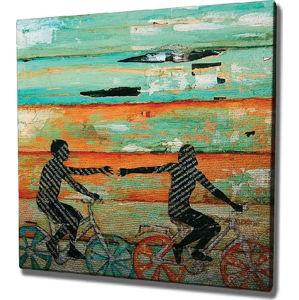 Nástěnný obraz na plátně Bike Trip, 45 x 45 cm