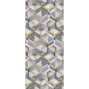 Žluto-šedý běhoun Floorita Retro, 60 x 115 cm