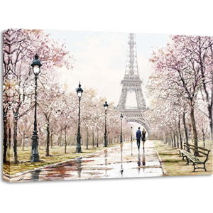 Obraz Styler Canvas Watercolor Paris Melancholy, 85 x 113 cm