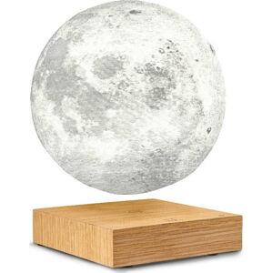 Stolní levitující lampa ve tvaru Měsíce Gingko Moon White Ash