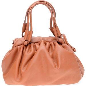 Hnědá kožená taška přes rameno Isabella Rhea