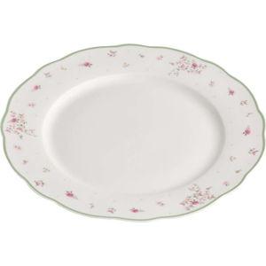 Bílý porcelánový servírovací talíř Brandani Nonna Rosa