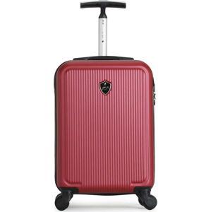 Vínově červený cestovní kufr na kolečkách GENTLEMAN FARMER Marbo Valise Cabine, 37 l