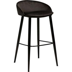 Černá sametová barová židle DAN-FORM Denmark Dual