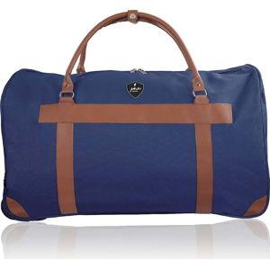 Modrá cestovní taška na kolečkách GENTLEMAN FARMER Oslo, 93 l