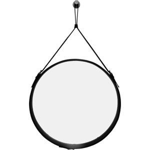 Závěsné zrcadlo v černém rámu RGE Elvis, ø 50 cm
