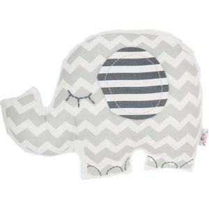 Šedý dětský polštářek s příměsí bavlny Apolena Pillow Toy Elephant, 34 x 24 cm