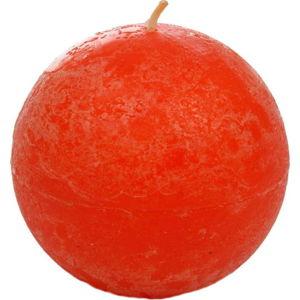 Oranžovočervená svíčka J-Line Ball