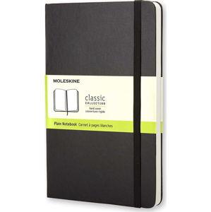 Černý zápisník v pevné vazbě Moleskine, 192stran