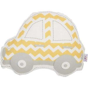Žluto-šedý dětský polštářek s příměsí bavlny Apolena Pillow Toy Car, 32 x 25 cm