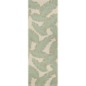 Zeleno-béžový venkovní běhoun Ragami Leaf, 70 x 200 cm