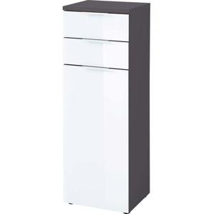 Bílo-šedá skřínka Germania Pescara, výška112cm
