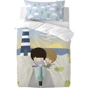 Dětské povlečení z čisté bavlny Happynois Summer Time, 115x145cm