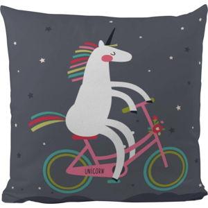 Polštář Butter Kings Unicorn With A Bike, 50x50cm