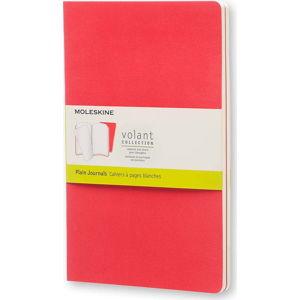 Červený zápisník Moleskine Volant, 96 stran