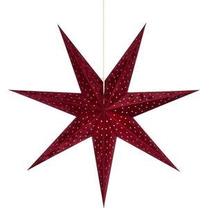 Červená závěsná světelná dekorace Markslöjd Velours,výška75cm