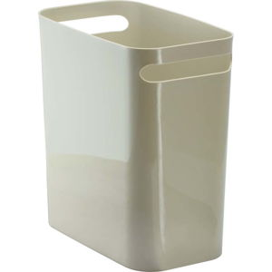 Béžový odpadkový koš iDesign Una, 13,9l