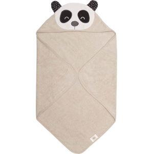 Béžový dětský ručník z froté bavlny Södahl Panda