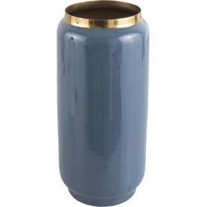 Modrá váza s detailem ve zlaté barvě PT LIVING Flare, výška 27 cm