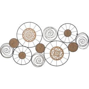 Nástěnná kovová dekorace Mauro Ferretti Masai, 106x54cm