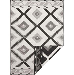 Černo-krémový venkovní koberec Bougari Malibu, 290 x 200 cm