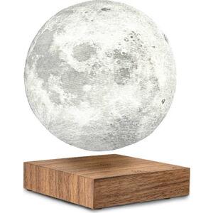 Stolní levitující lampa ve tvaru Měsíce Gingko Moon Walnut
