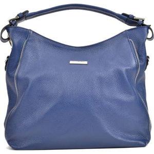 Modrá kožená kabelka Mangotti Bags Luciana