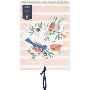 Měsíční růžový kalendář pro páry Busy B, 13 stran