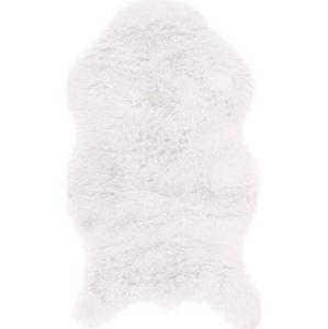 Bílá umělá kožešina Tiseco Home Studio Sheepskin, 80 x 150 cm