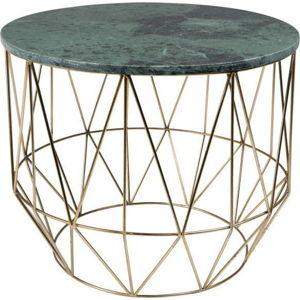 Odkládací stolek s mramorovou deskou Dutchbone, ⌀ 51 cm