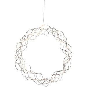 Stříbrná LED světelná dekorace Best Season Curly, ø 30 cm