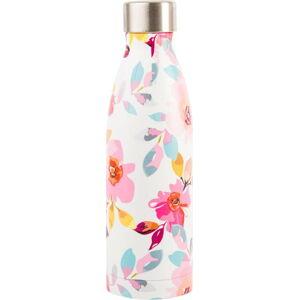 Růžová lahev z nerezové oceli Navigate Floral, 0,5 l