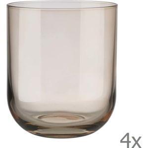 Sada 4 hnědých sklenic na vodu Blomus Mira, 350 ml