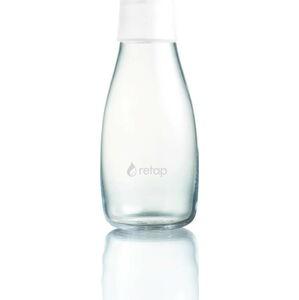 Bílá skleněná lahev ReTap s doživotní zárukou, 300ml