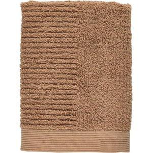 Jantarově hnědý ručník ze 100% bavlny Zone Classic Amber, 50x70cm