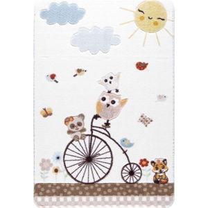 Dětský bílý koberec Confetti Sunny Day, 133x190cm