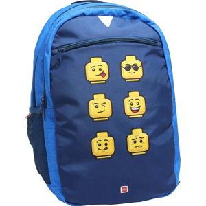 Modrý školní batoh LEGO® Faces Extended