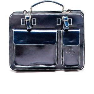Modrá kožená kabelka Luisa Vannini